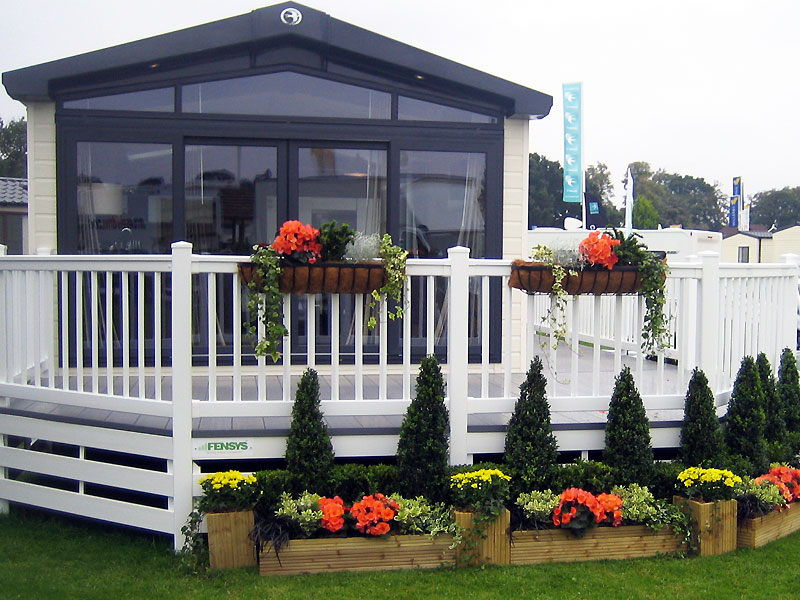 Colourful Eye catching Display to Entrance of Mobile Home