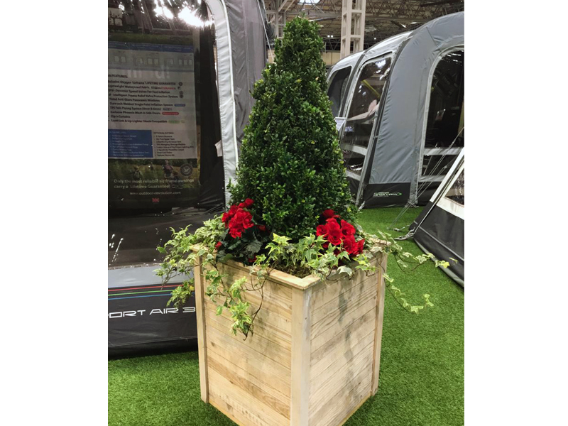 Rustic Container by camping display